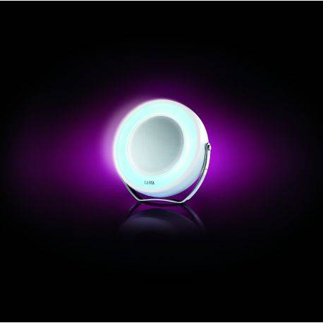 Oglinda cosmetica compacta cu iluminare LED Laica