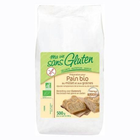 Amestec pentru paine cu mei fara gluten x 500g Ma vie sans gluten