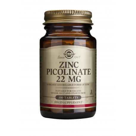 Zinc Picolinate 22mg x 100 tab. Solgar