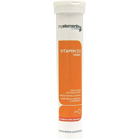 Vitamin D-3 1000 IU effervescent 20s MyElements