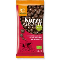 Landgarten-ECO Bilute din porumb-mei expandat in ciocolata neagra x 25g