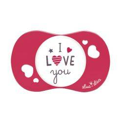 Suzeta silicon SYM I love you, Luc et Lea, 6 luni+