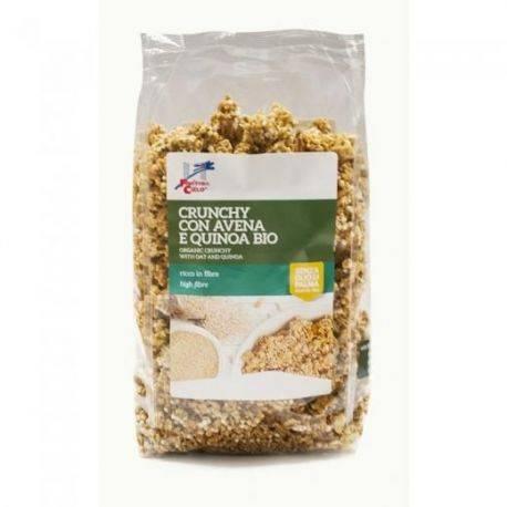 Musli crocant bio cu fulgi de ovaz si quinoa x 375g La Finestra sul Cielo