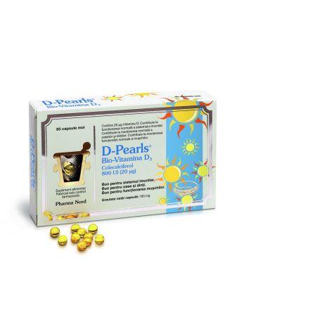 D-Pearls Bio-Vitamina D3 (20 milig) x 80perle Pharma Nord