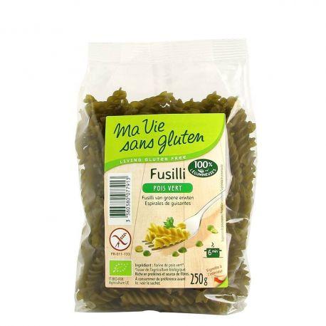 Fusilli bio mazare verde fara gluten x 250g Ma vie sans gluten
