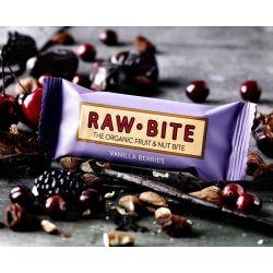 RawBite Baton cu vanilie si fructe de padure x 50g