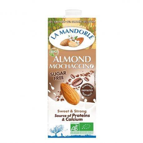 Lapte de migdale Mochaccino fara zahar x 1l La Mandorle