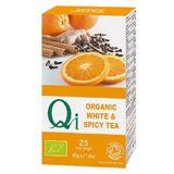 Ceai alb BIO condimentat QI x 40g (25 plicuri x 1.6g ) YOGI TEA