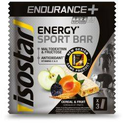 Baton energizant ENDURANCE BAR +HIGH CARB BAR 3x40g x Isostar Pulse