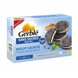 Glucoregul Biscuiti cacao cu crema de vanilie x 176g Gerble