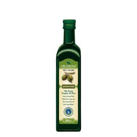Ulei de masline bio extra virgin extras la rece 100% Italian x 750ml Crudigno
