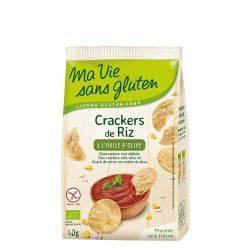 Crackers din orez cu ulei de masline fara gluten x 40g Ma Vie Sans Gluten
