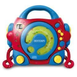 CD Player portabil cu 2 microfoane Bontempi