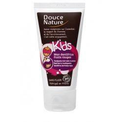 DouceNature KIDS Pasta de dinti cu fructe rosii, fara fluor eco x 50ml