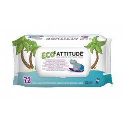 Servetele umede, 100% biodegradabile x 72buc  Attitude