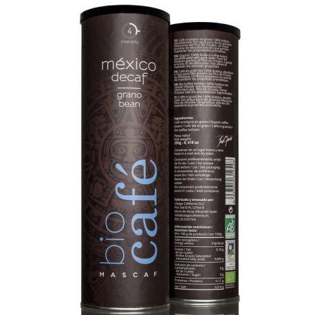 Cafea DECAF eco boabe cilindru metalic x 250g Mascaf