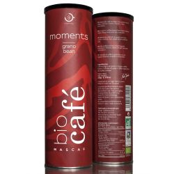 Cafea Eco BLEND MOMENTS boabe, cilindru metalic 250g Mascaf