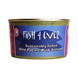 Somon roz salbatic de Alaska intreg, in suc propriu x 213g Fish4ever