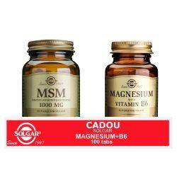 Pachet MSM 1000mg 60tb + Magnesium cu B6 100tb GRATIS