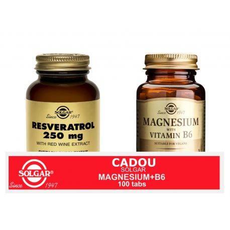 Pachet Resveratrol 250mg 30cps + Magnesium cu B6 100 tablete GRATIS