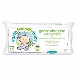 Servetele umede Earth Friendly Baby cu musetel si aloe vera, 72buc