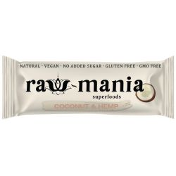 Baton fara gluten, vegan cu cocos si canepa x 35g Raw-man