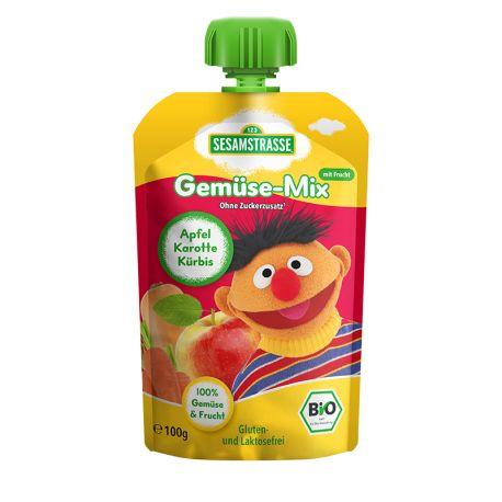 Piure Eco de fructe - pere, mango, spanac x 100g Sesame Street