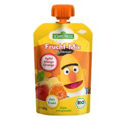 Piure eco de fructe mere, mango, portocale x 100 g Sesame Street