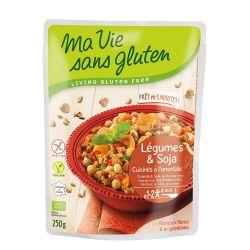 Legume cu naut si cuburi de soia produs fara gluten gata preparat x 250g Ma Vie sans Gluten