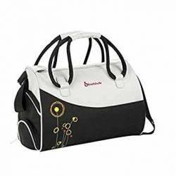 Geanta pentru scutece Flower Bag Black / Grey - Badabulle