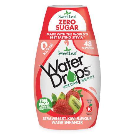 Water Drops cu Capsuni si Kiwi x 48ml Sweetleaf