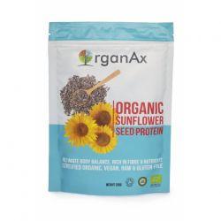 Pudra proteica din seminte organice de floarea soarelui x 250g OrganAx