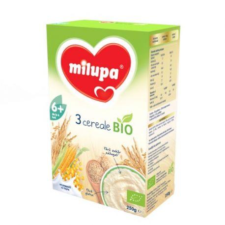 Cereale bio fara lapte cu 3 Cereale x 250g Milupa