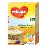Cereale fara lapte Musli Jr 7 cereale cu banane si prune x 250g Milupa