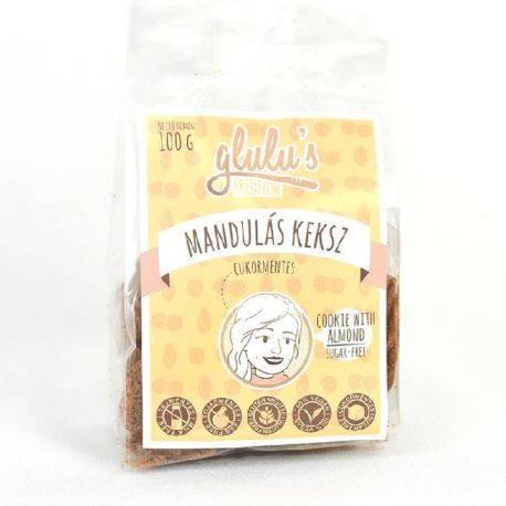 Biscuiti cu migdale fara gluten si fara zahar x 100g Glulu's