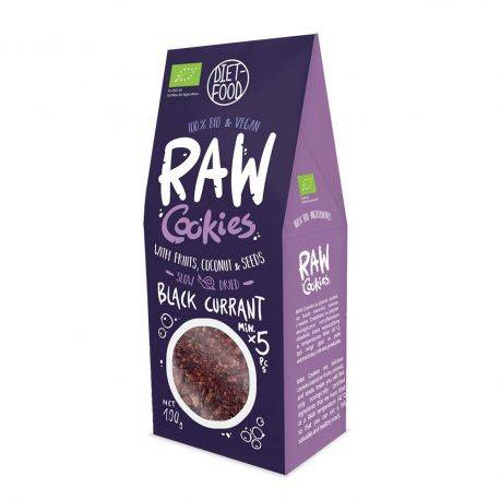 Fursecuri raw vegane cu coacaze negre x 100g Diet Food