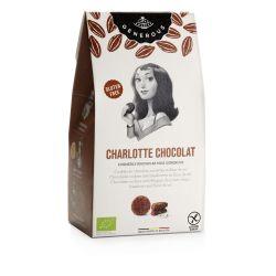 "Biscuiti eco fara gluten Charlotte Chocolat cu fulgi de ciocolata belgiana, alune de padure si ""Fleur de Sel"" x 120g Generous"