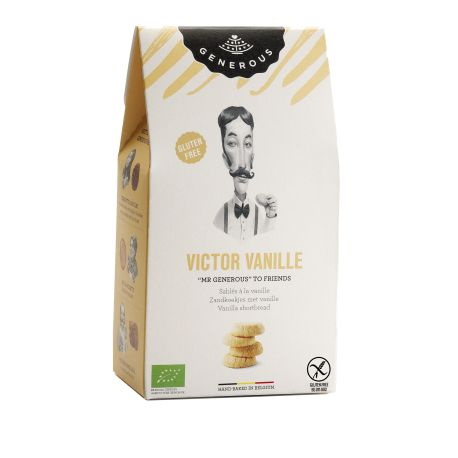 Biscuiti eco fara gluten Victor Vanille cu unt si vanilie x 120g Generous