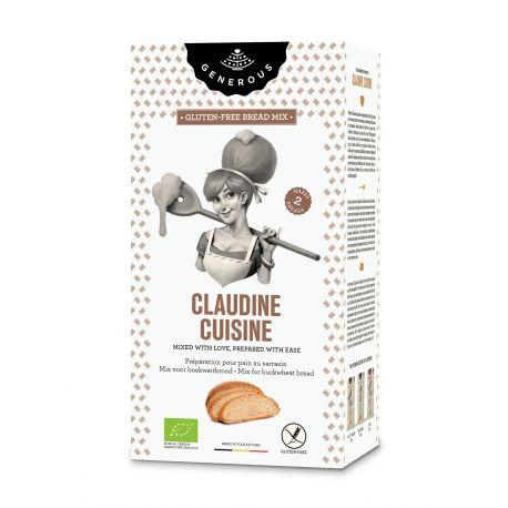 Amestec eco de faina de hrisca pentru paine fara gluten Claudine Cuisine x 500g Generous
