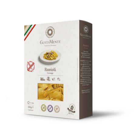 Paste fainoase Ravioli cu branza Gorgonzola dulce fara gluten x 250g Gustamente