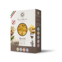 Paste fainoase proaspete Ravioli cu branza Ricotta si Spanac, fara gluten x 250g Gustamente