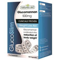 Glucoslim (glucomannan 500mg) x 120 capsule Natures Aid