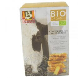 Biscuiti organici cu branza gouda maturata x 75g Buiteman
