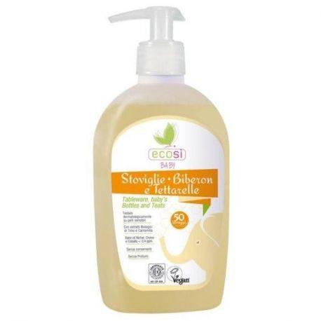 Detergent solutie ECO BIO pentru vesela, biberoane x 500ml Ecosi Baby