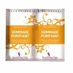 Exfoliant facial purifiant cu miere si banana pentru ten sensibil 2x4g Secrets des Fees