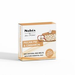 Pastile parfumate din ceara de soia, Pecan Pie & Cinnamon x 40g Nohea
