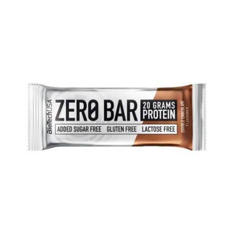 Baton proteic ciocolata fara gluten si fara zahar Zero Bar x 50g Biotech