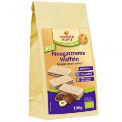 Napolitane fara gluten cu crema de nuga ECO x 100g Hammer Muhle