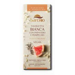 Tableta de ciocolata alba cu seminte de mac si grapefruit x 80g Sarchio
