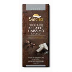 Ciocolata cu lapte extra-fina (39% cacao) cu nuca de cocos fara gluten x 80g Sarchio